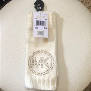 Brand new MK fingerless sparkle gloves